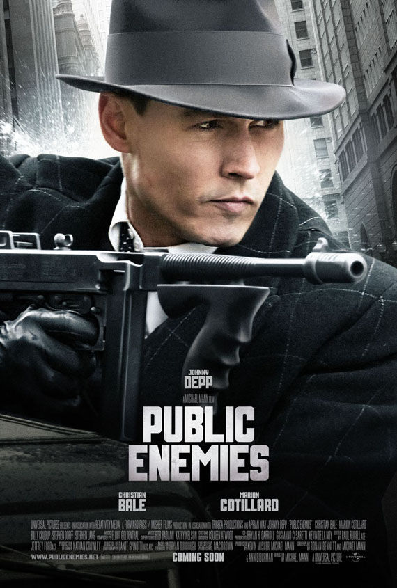 public enemies johnny depp New Posters: Inglourious Basterds, Public Enemies, Transformers 2 & More!