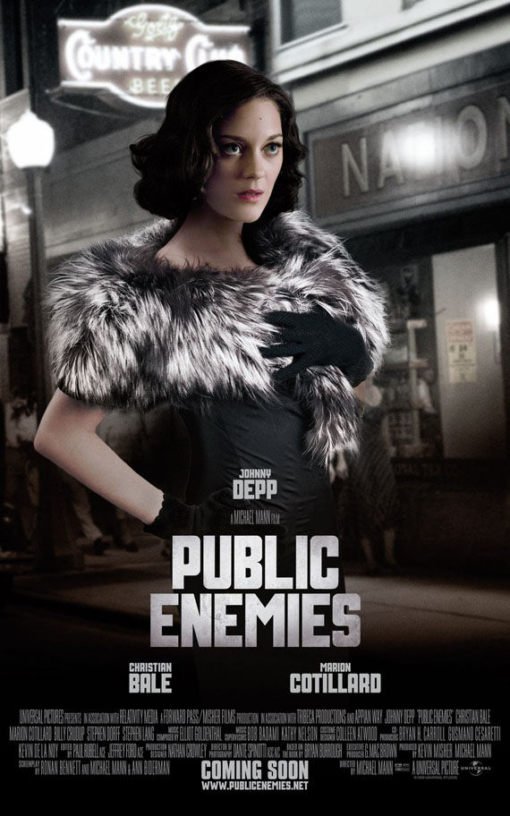 public enemies marion cotillard New Posters: Inglourious Basterds, Public Enemies, Transformers 2 & More!