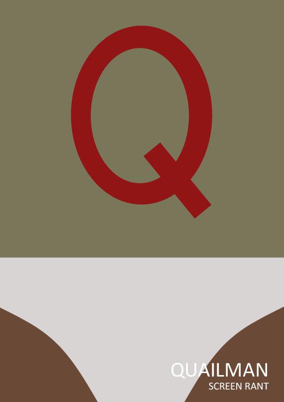 quailman minimalist poster Quail Man