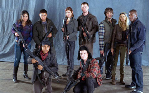 red dawn 2010 cast photo Red Dawn Image: Wolverines Ready to Battle Chinese Invaders
