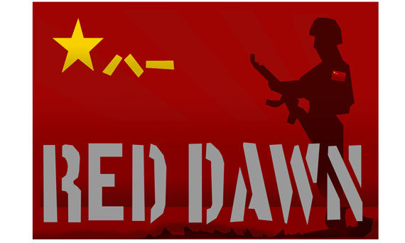 red dawn logo screen rant Explosions Galore on the Set of Red Dawn