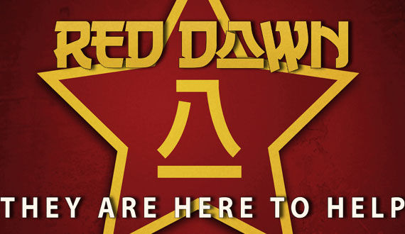 red dawn logo tagline Red Dawn Image: Wolverines Ready to Battle Chinese Invaders