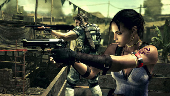resident evil 5 chris redfield and sheva alomar Resident Evil 5 game   Chris Redfield and Sheva Alomar