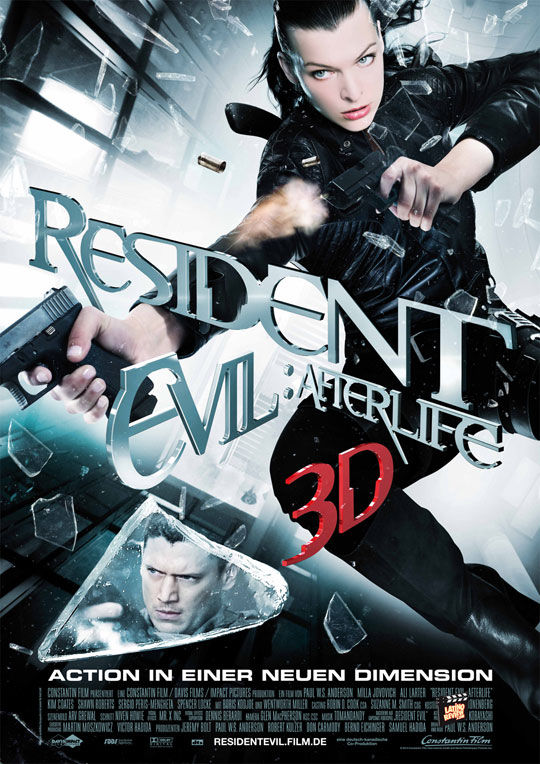 resident evil afterlife international poster Movie Poster Roundup: Fockers, Sucker Punch, Saw 3D, & Resident Evil