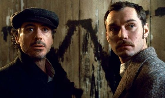 robert downey jr and jude law in sherlock holmes 2 game of death Iron Man 3 Writer Hired For Sherlock Holmes 3