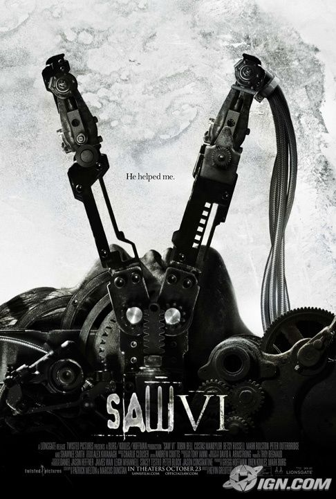 saw vi 6 poster Poster Friday: Toy Story 3, Saw VI, A Christmas Carol & Many More!