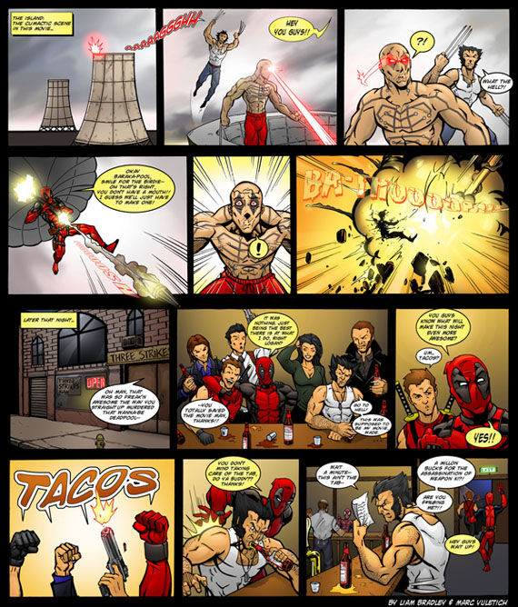 scarletvulture deadpool comic What Do X Men Fans Want Most: Deadpool, Wolverine 2 or First Class?