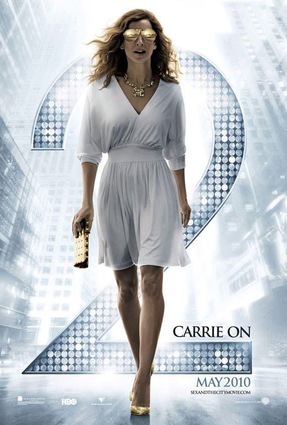 sex and the city 2 poster carrie on Poster Friday: Clash of the Titans, Iron Man 2 & More!