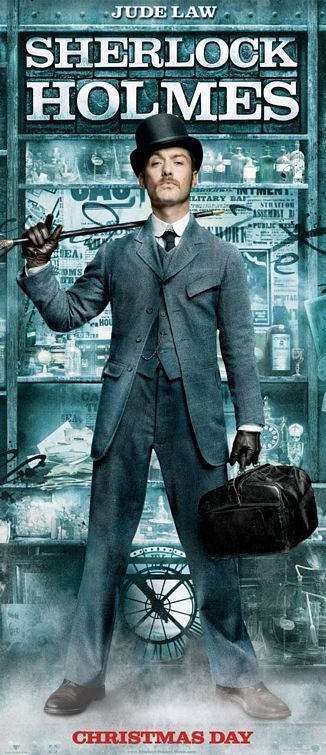 sherlock holmes jude law tall poster Poster Friday: Clash of the Titans, Iron Man 2 & More!