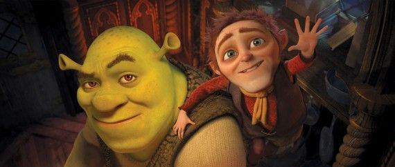 shrek forever after 1 570x242 Mike Myers on Austin Powers 4; Early Reviews of Shrek 4