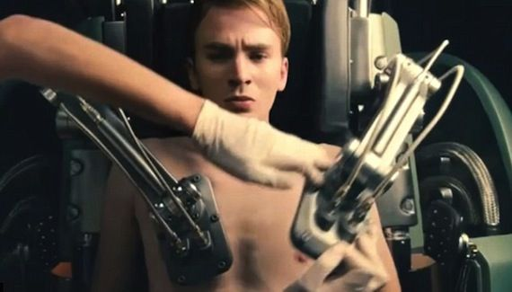 skinny steve rogers in captain america the first avenger Director Joe Johnston Talks Captain America & The Rocketeer 2