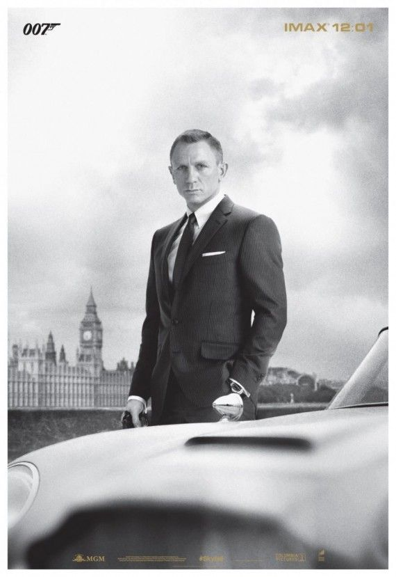 skyfall imax poster 570x829 New Skyfall IMAX Trailer & Poster: Bonds Back in a Big Way