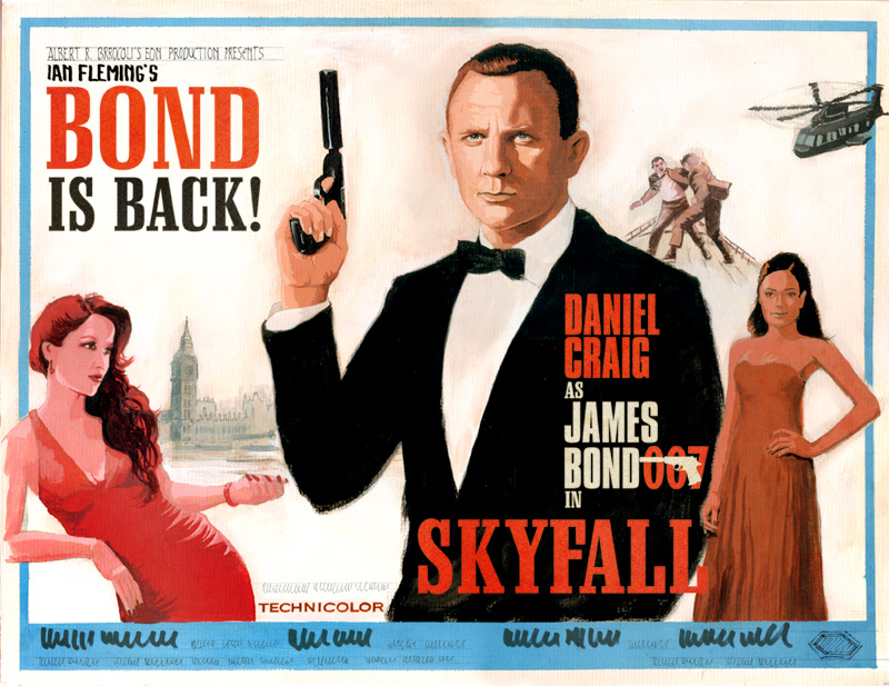 skyfall poster concept james bond 007 daniel craig artwork SR Geek Picks: Dine Hard, Marvelphabet, Skyfall Concept Poster & More!