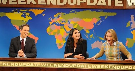 snl miley weekend update Saturday Night Live Miley Cyrus Review: Another Step in the Right Direction?
