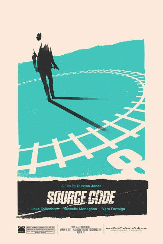source code sxsw poster Movie Poster Roundup: Fast Five, Thor, X Men: First Class & More