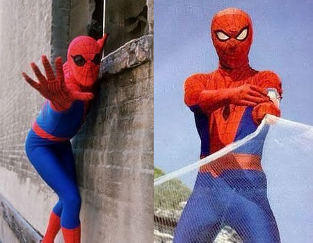 Nicholas Hammond and Shinji Todo as Spider-man