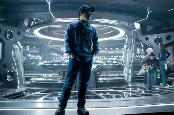 star trek into darkness jj abrams official 570x378 'Star Trek Into Darkness': Simon Pegg & John Cho on Spoilers, Star Trek 3, & Star Wars