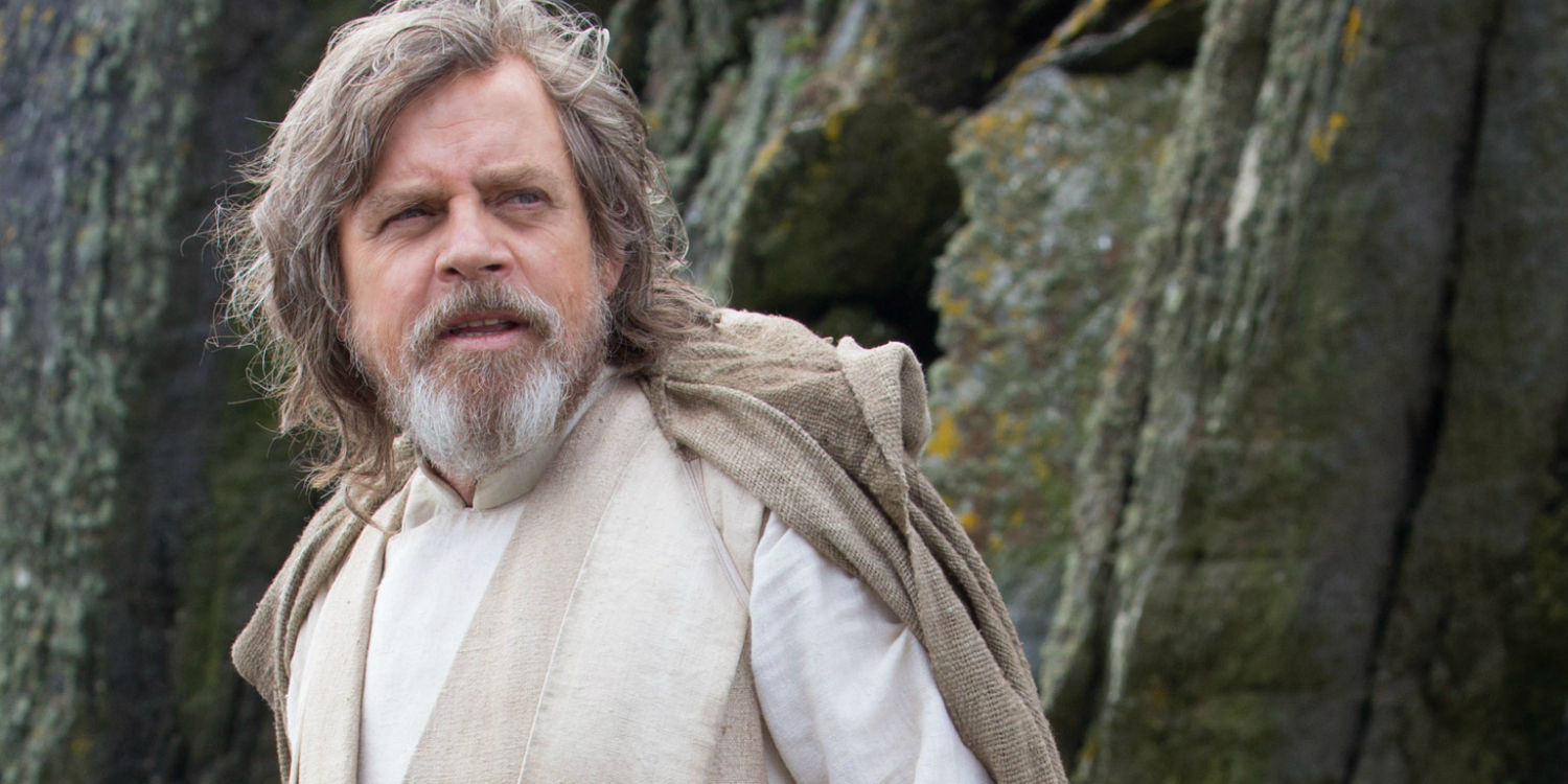Mark Hamill as Luke filming Star Wars: Episode 8