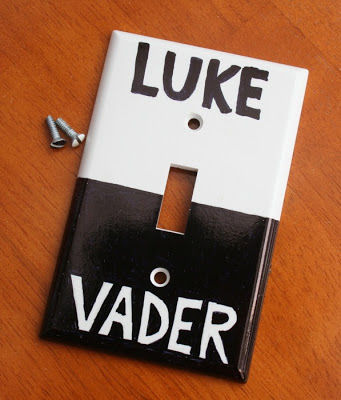 star wars DIY lightswitch star wars DIY light switch