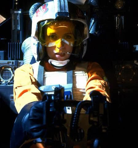 star wars return jedi x wing female pilot X Wing Female Fighter Pilot Cut from Return of the Jedi