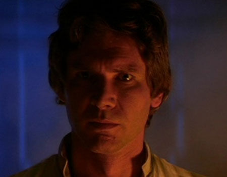 Harrison Ford as Han Solo in Star Wars Episode V: The Empire Strikes Back