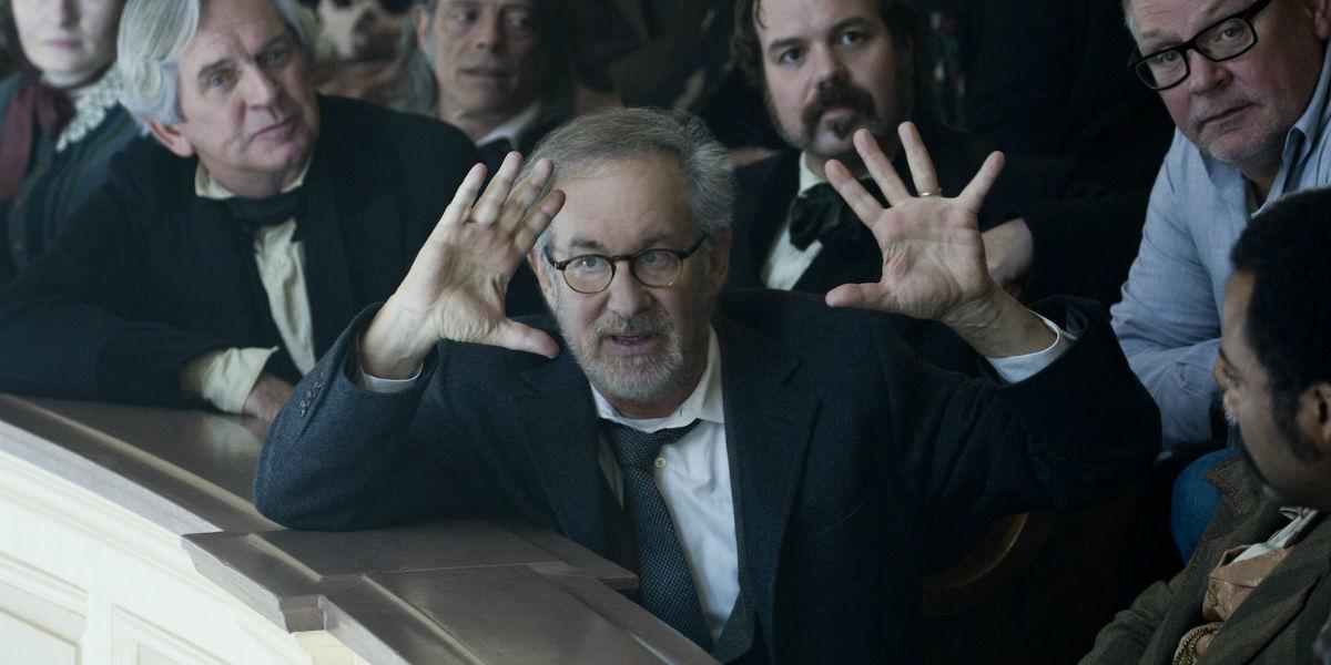 Steven Spielberg directing Lincoln
