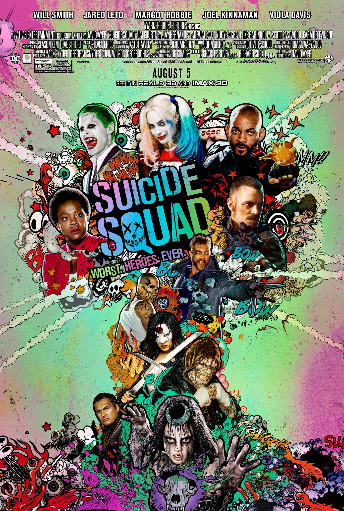 Image result for suicide squad movie poster official