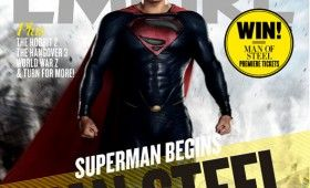 superman man steel cover 280x170 New Man of Steel Magazine Covers   Superman and General Zod Go to War