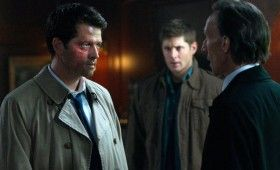 supernatural season 7 premiere 3 280x170 Supernatural Season 7 Premiere Photos Pits Castiel Against Death