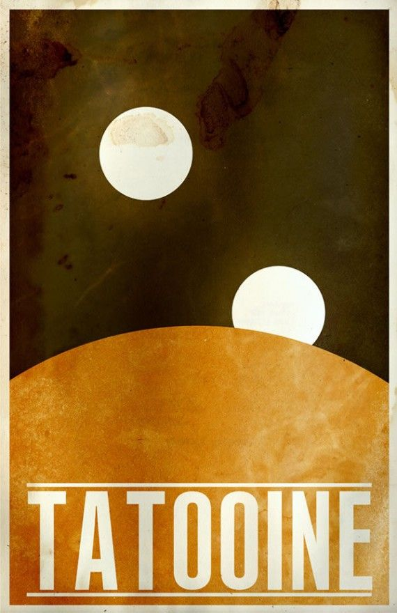 tatooine travel poster 570x880 SR Pick: Cool Minimalist Star Wars Travel Posters