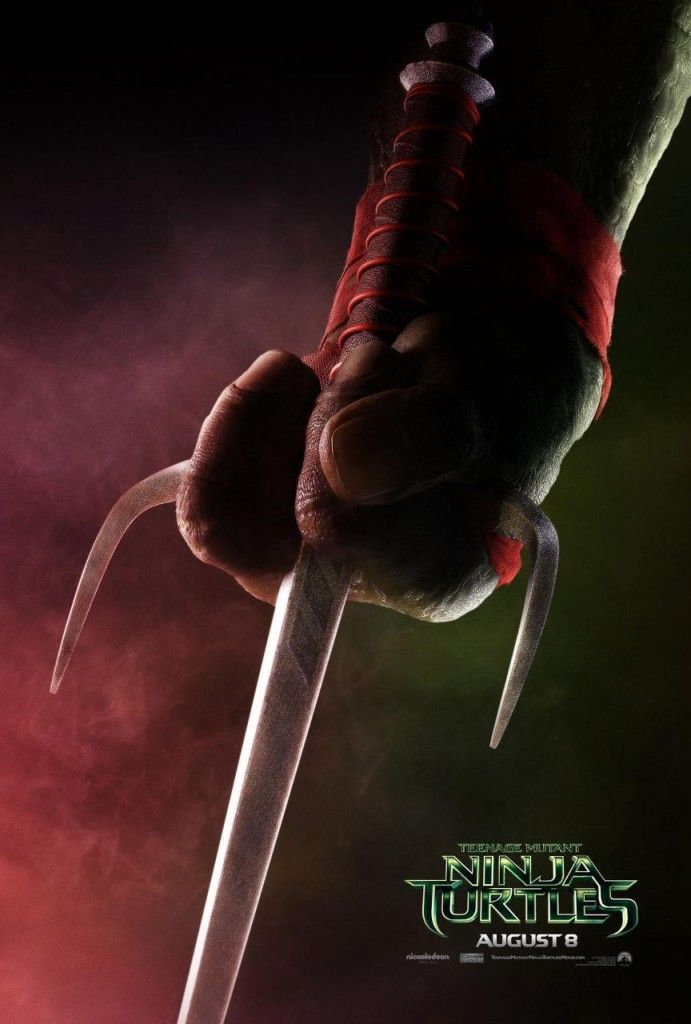 teenage mutant ninja turtles poster raphael 691x1024 First Teenage Mutant Ninja Turtles Posters Highlight the Turtles Weapons