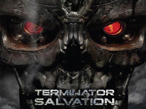 terminator salvation terminator unit face poster Bale Quotes Arnold In New Terminator Salvation TV Spot