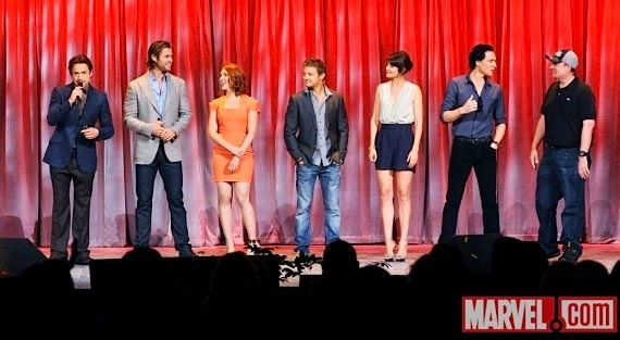 the avengers assembled at d23 Tom Hiddleston on Lokis Army & The Avengers Manhattan Battle