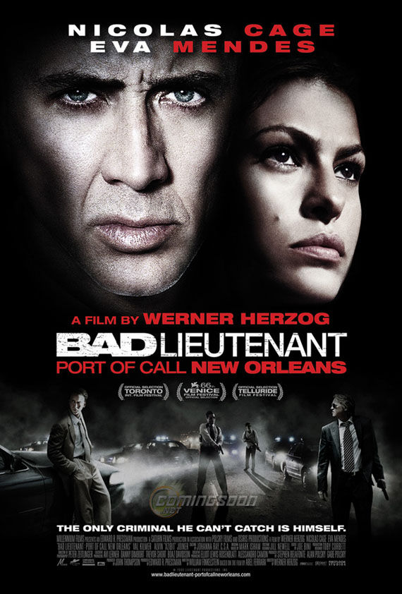 the bad lieutenant poster nicolas cage New Posters: The Road, 2012, Where The Wild Things Are & More!