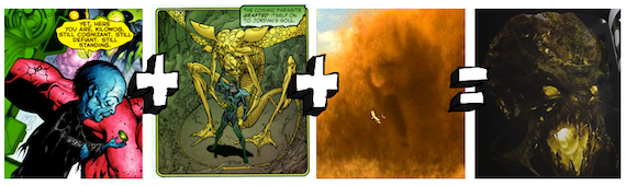 the equation for parallax from the movie Green Lantern: The Comic Books vs. The Movie