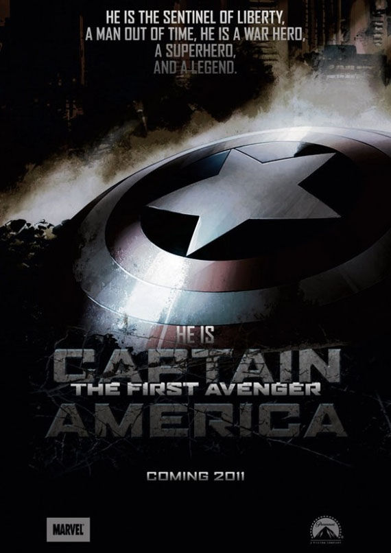 the first avenger captain america fan poster Comic Book Movie Posters: Kick Ass, Capt. America, Thor & More