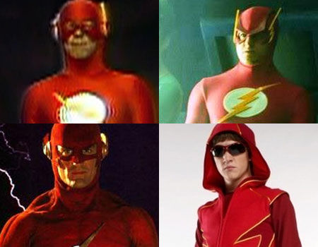 Rod Haase, John Wesley Shipp, Kenny Johnston and Kyle Gallner as The Flash