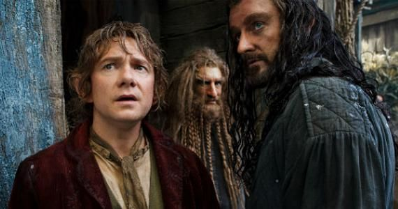 the hobbit desolation smaug bilbo thorin The Hobbit Cast Talk There and Back Again; Jackson Reveals Original Two Movie Plan
