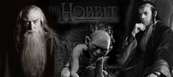 the hobbit gandalf elrond gollum Guillermo del Toro: The Hobbit Casting Confirmations & More!