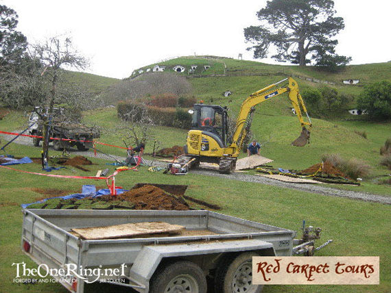 the hobbit hobbiton shire construction The Hobbit: Hobbiton Currently Under Construction
