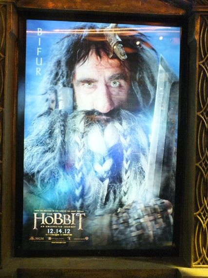 the hobbit poster comic con 2012 13 William Kircher as Bifur in a poster for The Hobbit   Comic Con 2012