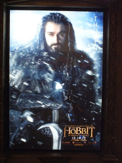 the hobbit poster comic con 2012 16  Richard Armitage as Thorin Oakenshield in a poster for The Hobbit   Comic Con 2012