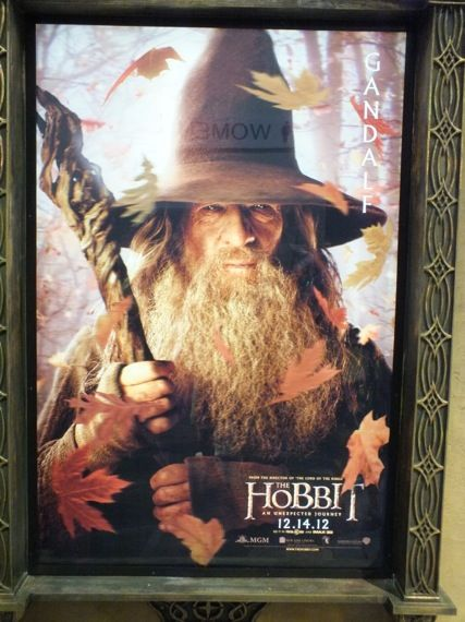 the hobbit poster comic con 2012 19 Ian McKellen as Gandalf in a poster for The Hobbit   Comic Con 2012