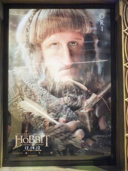 the hobbit poster comic con 2012 21 Adam Brown as Ori in a poster for The Hobbit   Comic Con 2012