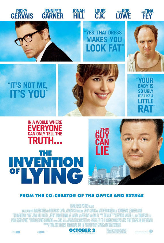 the invention of lying poster ricky gervais New Posters: The Road, 2012, Where The Wild Things Are & More!