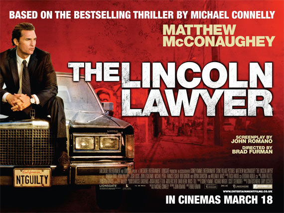 the lincoln lawyer quad movie poster Movie Poster Roundup: Thor, Pirates of the Caribbean 4, Your Highness & More