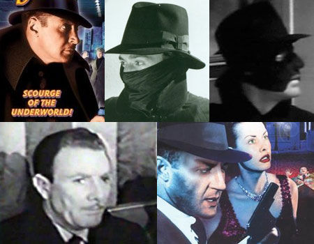 Rod La Rocque, Victor Jory, Kane Richmond, Tom Helmore and Richard Derr as The Shadow