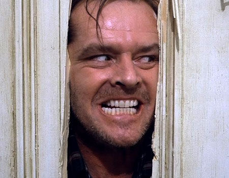 Jack Torrance frightens his family