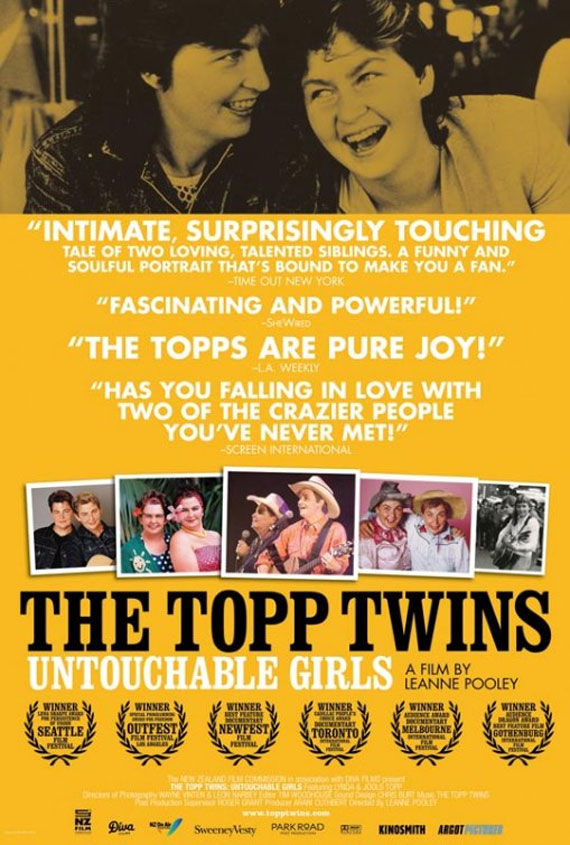 the topp twins untouchable girls movie poster Movie Poster Roundup: Rubber, Rio, True Legend, Super & More