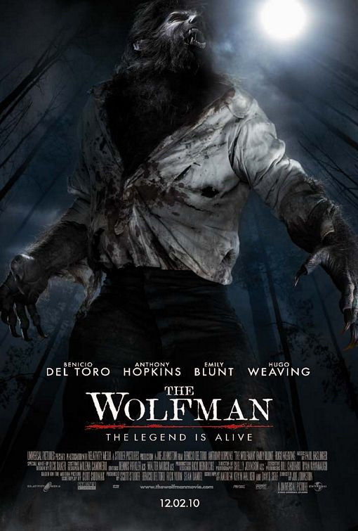 the wolfman poster the legend is alive Poster Friday Pt.1: Avatar, The Road & Tons More!